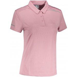 Dámské funkční triko s límečkem PEAK POLO T SHIRT FW602568 POWDER PURPLE