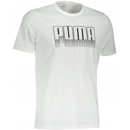 Pánské triko PUMA BASIC TEE PUMA WHITE