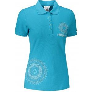 Dámské triko s límečkem ALTISPORT ALW024210 TYRKYSOVÁ