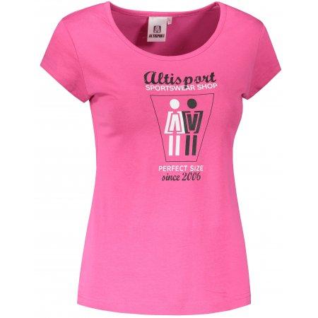 Dámské triko ALTISPORT ALW049122 PURPUROVÁ