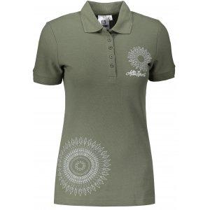 Dámské triko s límečkem ALTISPORT ALW024210 KHAKI