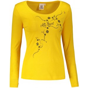Dámské triko s dlouhým rukávem ALTISPORT ALW009169 ŽLUTÁ