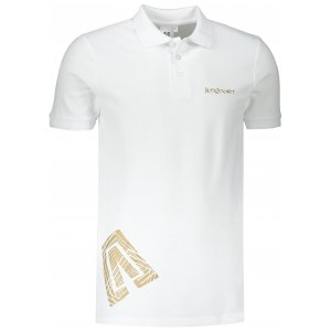 Pánské triko s límečkem ALTISPORT ALM013203 BÍLÁ