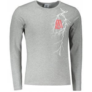 Pánské triko s dlouhým rukávem ALTISPORT ALM027119 TMAVĚ ŠEDÝ MELÍR