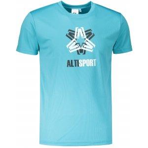 Pánské funkční triko ALTISPORT ALM046124 TYRKYSOVÁ