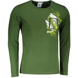 Pánské triko s dlouhým rukávem ALTISPORT ALM032119 LAHVOVĚ ZELENÁ