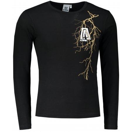 Pánské triko s dlouhým rukávem ALTISPORT ALM027119 ČERNOZLATÁ