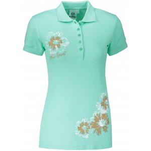 Dámské triko s límečkem ALTISPORT ALW016210 MÁTOVÁ
