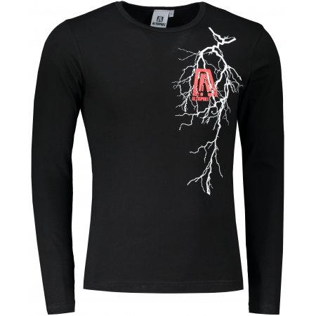 Pánské triko s dlouhým rukávem ALTISPORT ALM027119 ČERNÁ