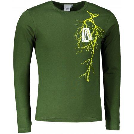 Pánské triko s dlouhým rukávem ALTISPORT ALM027119 LAHVOVĚ ZELENÁ