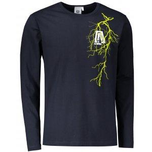 Pánské triko s dlouhým rukávem ALTISPORT ALM027119 NÁMOŘNÍ MODRÁ/ZELENÁ