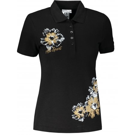 Dámské triko s límečkem ALTISPORT ALW016210 ČERNÁ