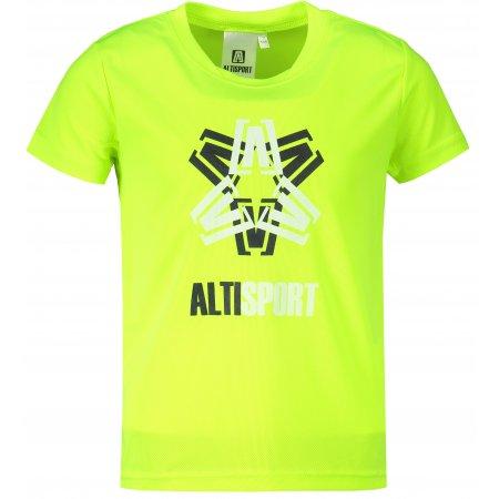 Dětské funkční triko ALTISPORT ALK046147 NEON YELLOW