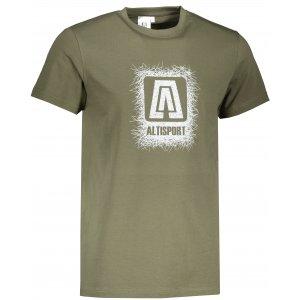 Pánské triko ALTISPORT ALM064129 KHAKI