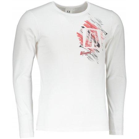 Pánské triko s dlouhým rukávem ALTISPORT ALM032119 BÍLÁ