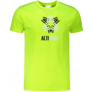 Pánské funkční triko ALTISPORT ALM046124 NEON YELLOW