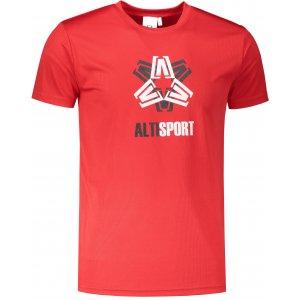 Pánské funkční triko ALTISPORT ALM046124 ČERVENÁ