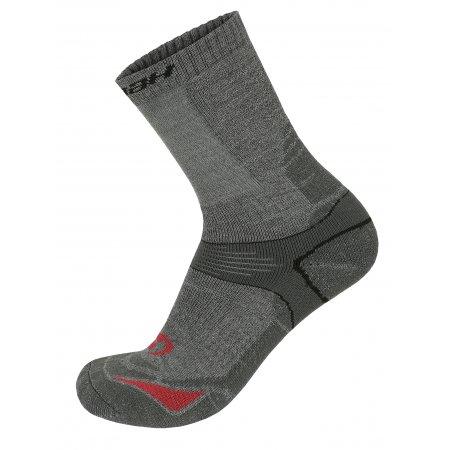 Ponožky HANNAH WALK GRAY/FUCHSIA RED