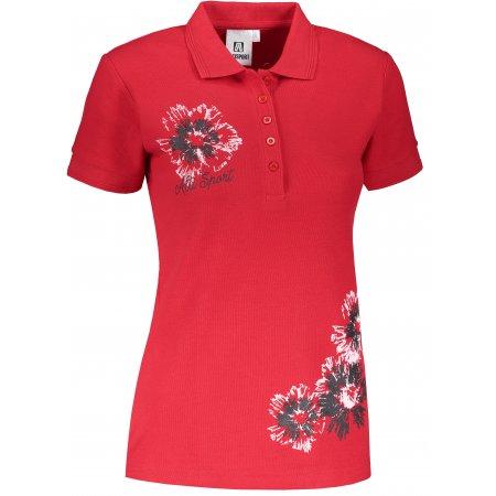 Dámské triko s límečkem ALTISPORT ALW016210 ČERVENÁ