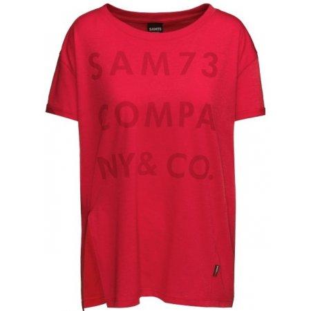 Dámské triko s krátkým rukávem SAM 73 NINA WT 818 ČERVENÁ