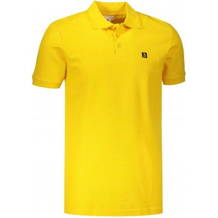 Pánské triko s límečkem ALTISPORT ALM065203 ŽLUTÁ