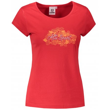 Dámské triko ALTISPORT ALW057122 ČERVENÁ