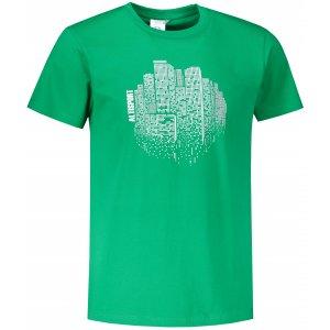 Pánské triko ALTISPORT ALM060129 STŘEDNĚ ZELENÁ