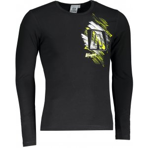Pánské triko s dlouhým rukávem ALTISPORT ALM032119 ČERNÁ