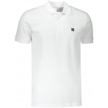 Pánské triko s límečkem ALTISPORT ALM065203 BÍLÁ
