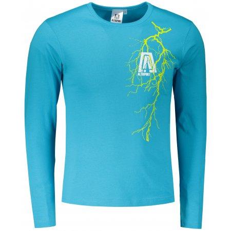 Pánské triko s dlouhým rukávem ALTISPORT ALM027119 TYRKYSOVÁ