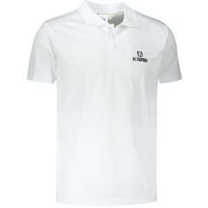 Pánské funkční triko s límečkem ALTISPORT ALM006217 BÍLÁ