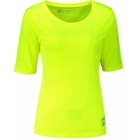 Dámské triko s krátkým rukávem ALTISPORT ARICA LTST772 SVÍTIVĚ ŽLUTÁ