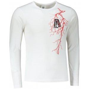 Pánské triko s dlouhým rukávem ALTISPORT ALM027119 BÍLÁ