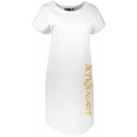 Dámské šaty ALTISPORT BHUMA LSKT327 BÍLÁ