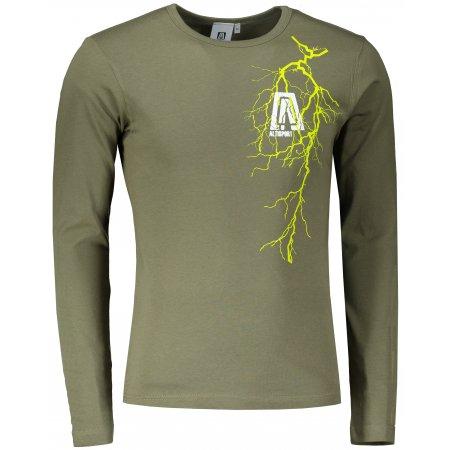 Pánské triko s dlouhým rukávem ALTISPORT ALM027119 KHAKI