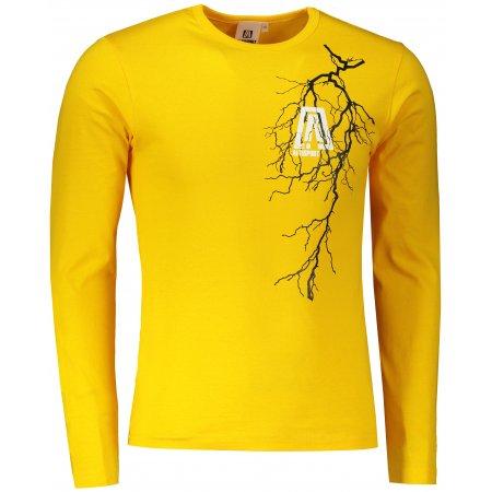 Pánské triko s dlouhým rukávem ALTISPORT ALM027119 ŽLUTÁ