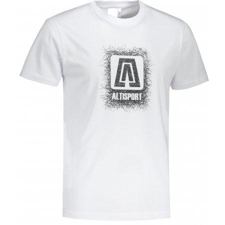 Pánské triko ALTISPORT ALM064129 BÍLÁ