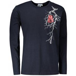 Pánské triko s dlouhým rukávem ALTISPORT ALM027119 NÁMOŘNÍ MODRÁ