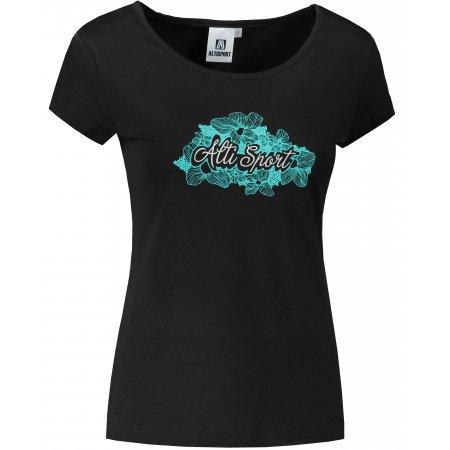 Dámské triko ALTISPORT ALW057122 ČERNOMODRÁ
