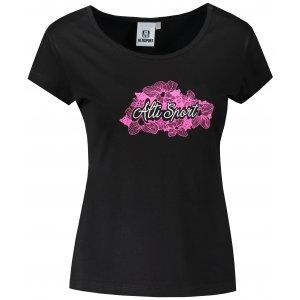 Dámské triko ALTISPORT ALW057122 ČERNORŮŽOVÁ