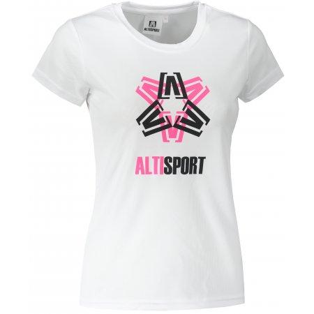 Dámské funkční triko ALTISPORT ALW046140 BÍLÁ
