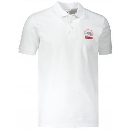Pánské triko s límečkem ALTISPORT ALM071203 BÍLÁ