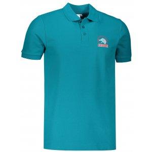 Pánské triko s límečkem ALTISPORT ALM071203 TMAVÝ TYRKYS