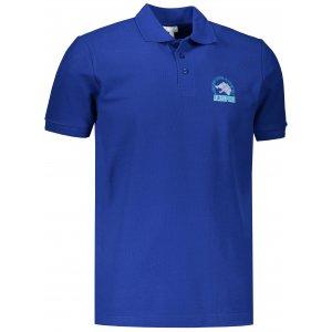 Pánské triko s límečkem ALTISPORT ALM071203 KRÁLOVSKÁ MODRÁ