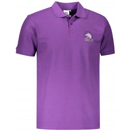 Pánské triko s límečkem ALTISPORT ALM071203 FIALOVÁ