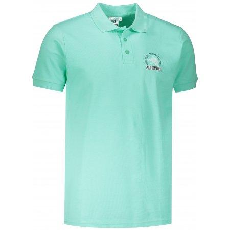 Pánské triko s límečkem ALTISPORT ALM071203 MÁTOVÁ