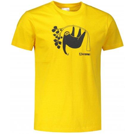 Pánské triko ALTISPORT ALM070129 ŽLUTÁ
