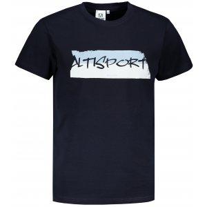 Pánské triko ALTISPORT ALM074129 NÁMOŘNÍ MODRÁ