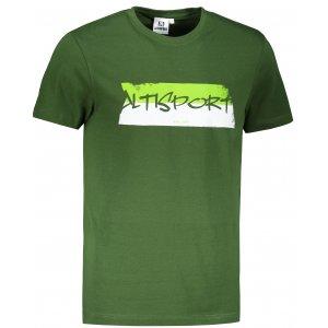 Pánské triko ALTISPORT ALM074129 LAHVOVĚ ZELENÁ