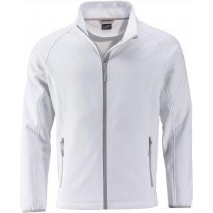 Pánská softshellová bunda JAMES NICHOLSON JN1130 WHITE/WHITE